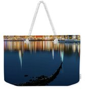 Gray Wolf Shipwreck And Stockholm Gamla Stan Fantastic Reflection In The Baltic Sea  Weekender Tote Bag