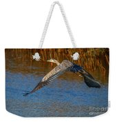 Great Blue Fly Away Weekender Tote Bag by Tom Claud