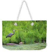 Great Blue Heron Square Weekender Tote Bag