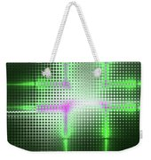 Green Aluminum Sparkling Surface. Metallic Geometric Abstract Fashion Background. Weekender Tote Bag