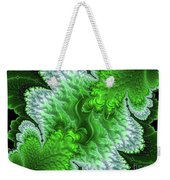 Green Frosty Canyon Weekender Tote Bag