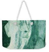 Green Portrait Weekender Tote Bag