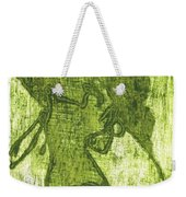 Green Thumb Cheek Girl Weekender Tote Bag