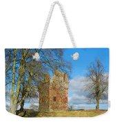Greenknowe Tower In Winter Sun, Scottish Borders Weekender Tote Bag