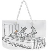 Greeting Card Get Well-all Wrapped Up Weekender Tote Bag