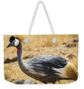 Grey Crowned Crane Weekender Tote Bag by Robin Zygelman