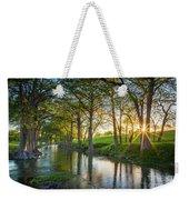 Guadalupe River Sunset Weekender Tote Bag