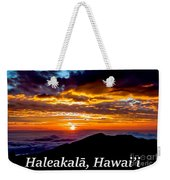 Haleakala Hawaii Weekender Tote Bag