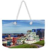 Halifax Town Clock And Halifax Skyline Weekender Tote Bag