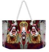 Halloween Scary Clown Heads Mirrored Weekender Tote Bag