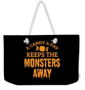 Halloween Shirt Candy A Day Keeps Monsters Away Gift Tee Weekender Tote Bag