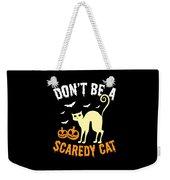 Halloween Shirt Dont Be A Scaredy Cat Pumpkin Tee Gift Weekender Tote Bag