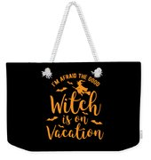Halloween Shirt Good Witch On Vacation Gift Tee Weekender Tote Bag