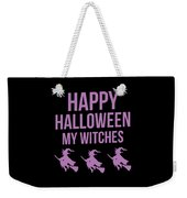 Halloween Shirt Happy Halloween Witches Gift Tee Weekender Tote Bag