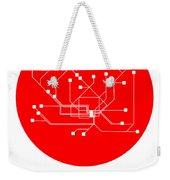 Hamburg Red Subway Map Weekender Tote Bag