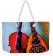 Hanging Violin And Mandolin Weekender Tote Bag