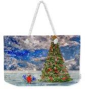 Happy Christmas Parrot Weekender Tote Bag