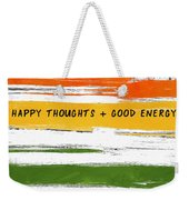 Happy Thoughts Rainbow- Art By Linda Woods Weekender Tote Bag