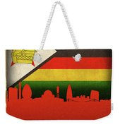 Harare Zimbabwe World City Flag Skyline Weekender Tote Bag