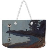 Harmony Beach Fog And Rain Weekender Tote Bag