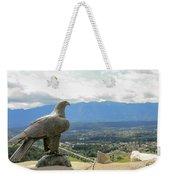 Hawk Overseeing Village. Weekender Tote Bag