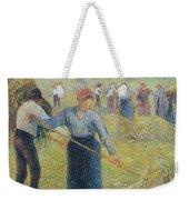 Haymaking At Eragny, 1891 Weekender Tote Bag