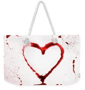 Heart Shape From Splaches And Blobs Weekender Tote Bag