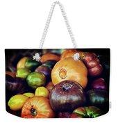 Heirloom Tomatoes At The Farmers Market Weekender Tote Bag
