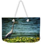 Heron In The Lily Pads Weekender Tote Bag