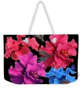 Hibiscus Dragonfly Weekender Tote Bag