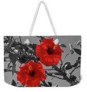 Hibiscus Selective Color Weekender Tote Bag