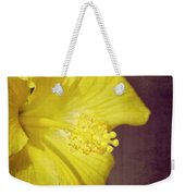 Hibiscus Yellow Weekender Tote Bag by Carolyn Marshall