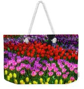 Hidden Garden Of Beautiful Tulips Weekender Tote Bag
