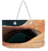 High Angle View Of A Pothole Arch Weekender Tote Bag