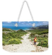 Hiking To Sandfly Bay New Zealand Weekender Tote Bag