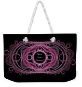 Hippie Lace - Peace, Love, Happiness Weekender Tote Bag