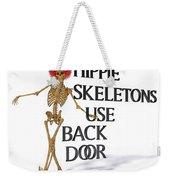 Hippie Skeletons Use Back Door Weekender Tote Bag