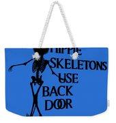 Hippie Skeletons Use Back Door Png Weekender Tote Bag