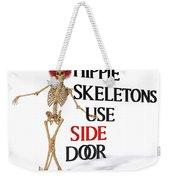 Hippie Skeletons Use Side Door Weekender Tote Bag