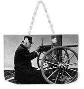 Hiram Maxim Firing His Maxim Machine Gun - 1884 Weekender Tote Bag