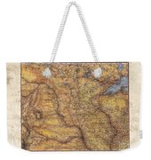 Historical Map Hand Painted Lake Superior North Dakota Minnesota Weekender Tote Bag