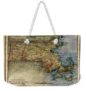 Historical Map Hand Painted Massachussets Weekender Tote Bag