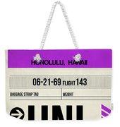 Hnl Honolulu Luggage Tag I Weekender Tote Bag