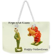 Hogs And Kisses Clown Valentines Weekender Tote Bag