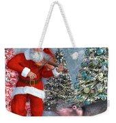 Holiday Hippo Dancing Cheer Weekender Tote Bag