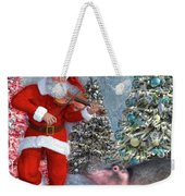 Holiday Hippo Dancing Cheer Weekender Tote Bag