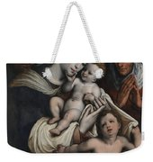 Holy Family With Elisabeth And John The Baptist  Weekender Tote Bag