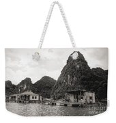 Homes On Ha Long Bay Boat People  Weekender Tote Bag
