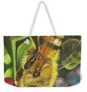 Honey Bee On Mexican Heather Weekender Tote Bag