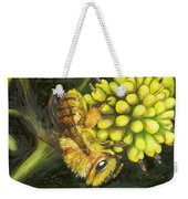 Honey Bee On Wild Golden Glow Weekender Tote Bag